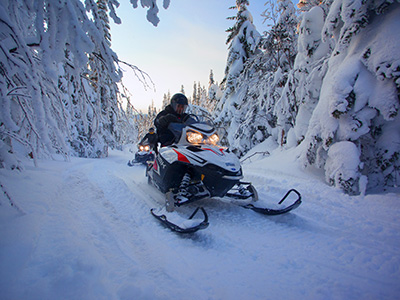Snowmobiling in the East