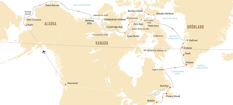 Polarkreis Alaska Karte.Durchquerung Der Nordwest Passage
